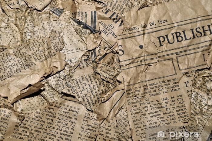 Naklejka Pixerstick Stare gazety w tle - Tekstury
