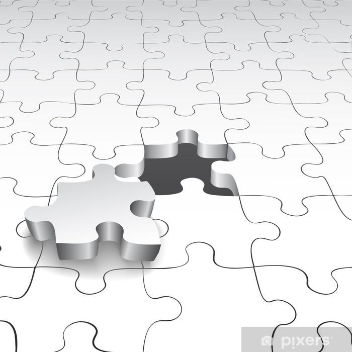 Naklejka Pixerstick Puzzle - Tła