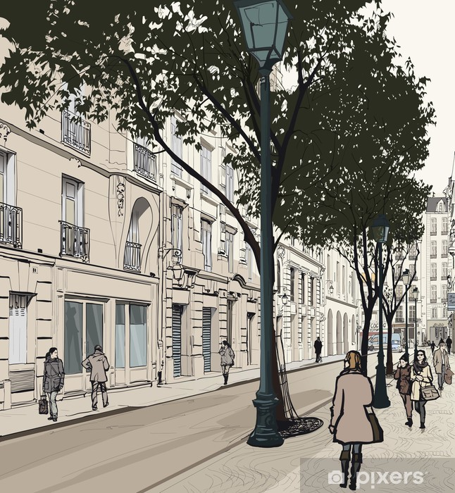 Montmartre in Paris Vinyl Wall Mural - Themes