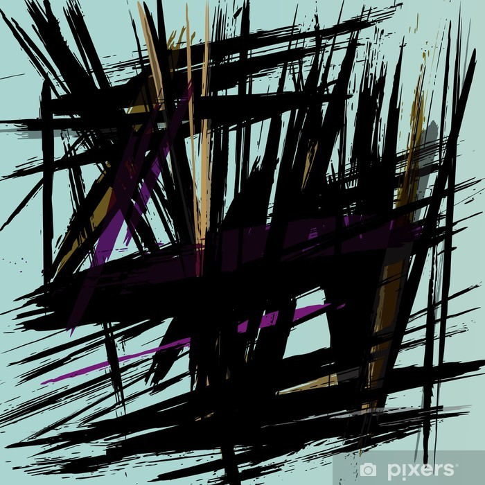 abstract background composition with strokes Vinyl Wall Mural - Themes