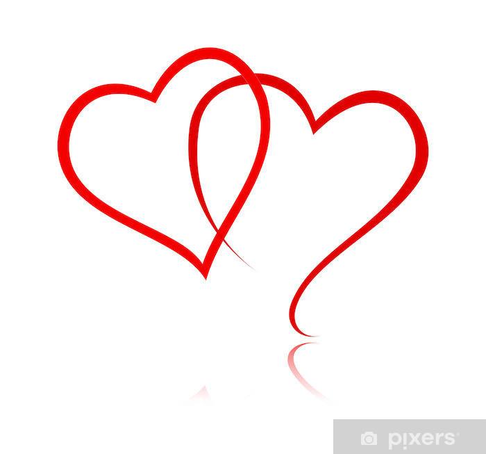 Papier peint vinyle Red Heart - Signes et symboles