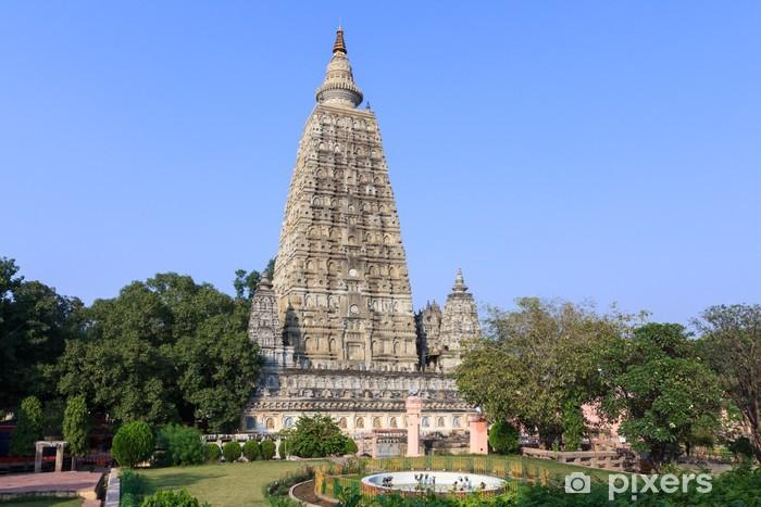 Nálepka Pixerstick Mahabodhi chrám, Bodh Gaya, Indie. Místo, kde Gautama Buddha - Náboženství