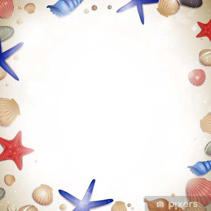 Papier peint vinyle Vector illustration d'une conception de plage d'été - Animaux marins