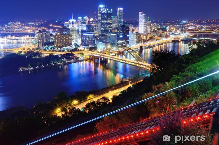 Papier peint vinyle Paysage urbain de Pittsburgh - Amérique