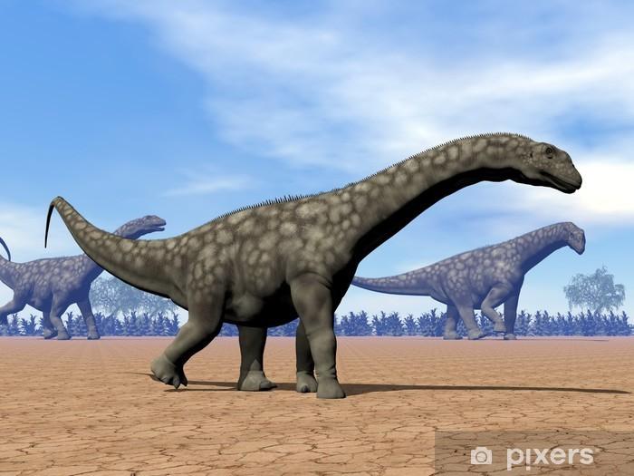 Adesivo Pixerstick Argentinosaurus dinosauro passeggiata - rendering 3D - Temi