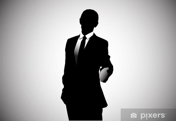 Papier peint vinyle Vecteur d'image d'un homme d'affaires tenant pouces. AI CS. - Au travail