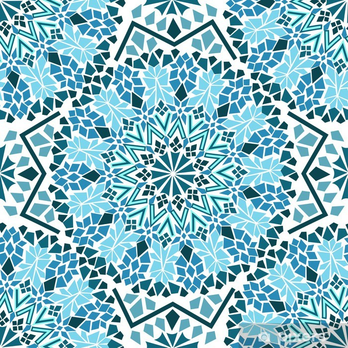 Naklejka Pixerstick Powtarzalne z mozaiki Maroka - Mozaika