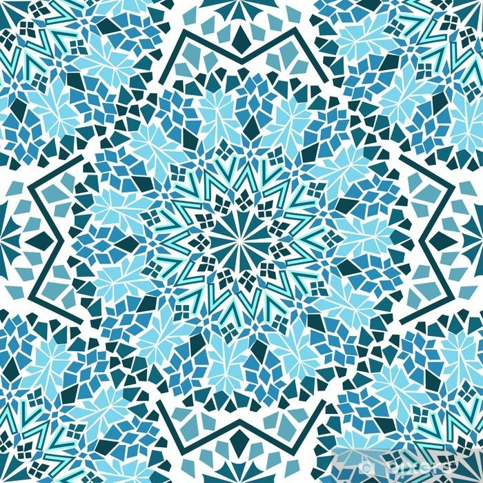 Seamless pattern of Moroccan mosaic Pixerstick Sticker - Mosaic