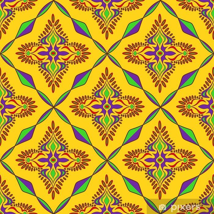 Bright Indian seamless pattern Pixerstick Sticker - Backgrounds