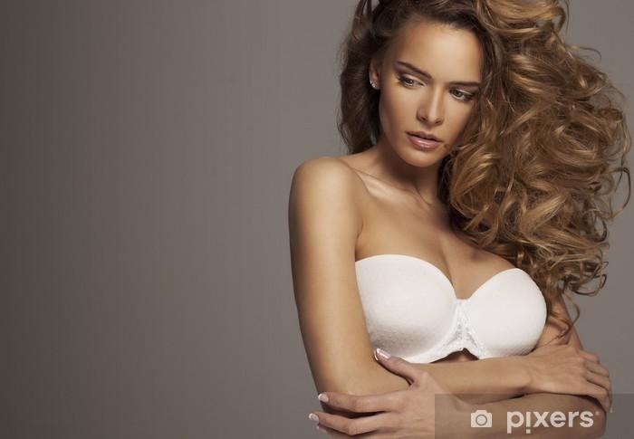 obtenir pas cher 5f346 80ac7 Sticker Femme sexy en lingerie blanche avec le maquillage naturel Pixerstick