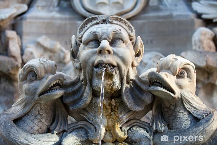 Sticker Pixerstick Fontaine de la Piazza della Rotonda, à Rome, Italie - Villes européennes