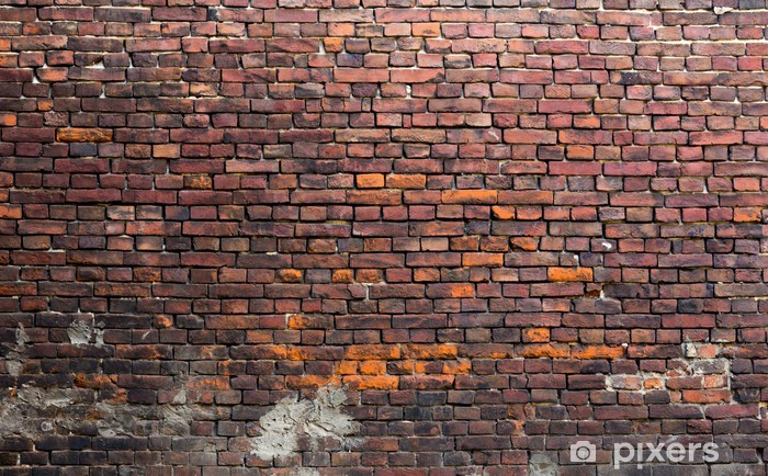 Fotomural Estándar Antiguo muro de ladrillo - Temas