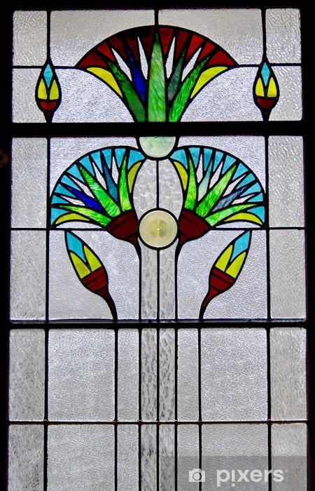 Naklejka Pixerstick Okno Art Deco - Przemysł ciężki