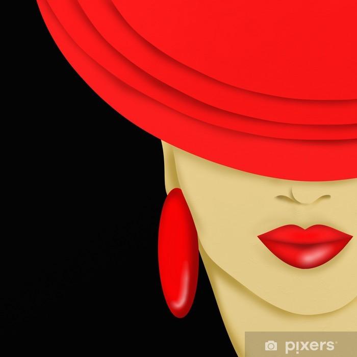 Fototapeta winylowa Red hat - Tematy