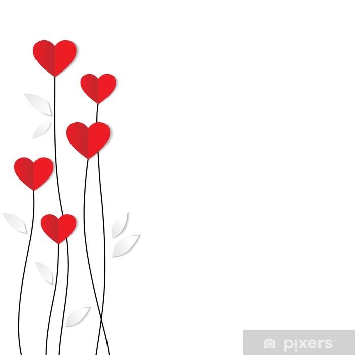 Fototapete Feiertags Karte Herz Aus Papier Valentinstag Pixers
