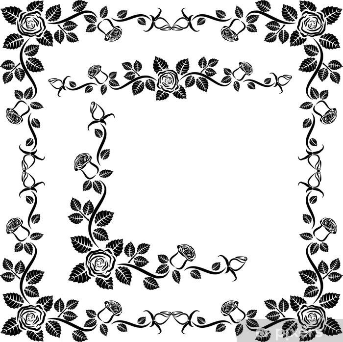 Plakat Frame rose, róg i border - Znaki i symbole