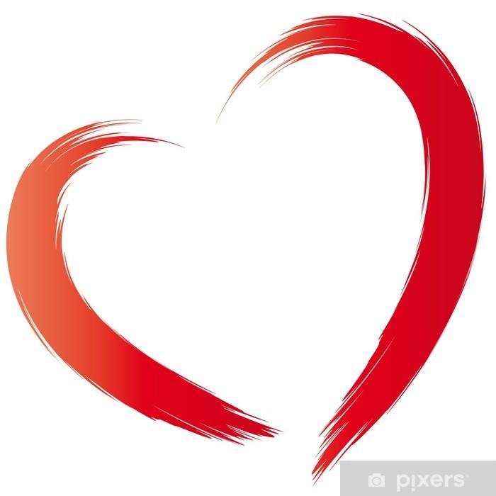 Papier peint vinyle Heart - Stroke - Signes et symboles