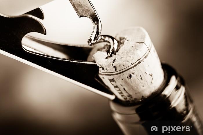 Sticker Pixerstick Vin vieilli - Pour restaurant