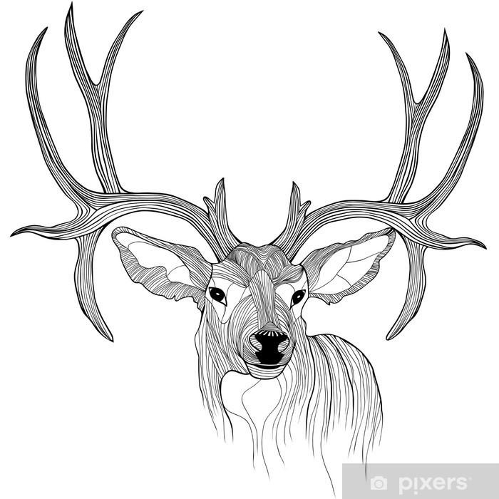 Deer head Vinyl Wall Mural - Science & Nature