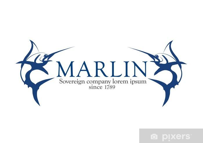 Papier peint vinyle Marlin logo, espadon logotype - Sports d'extérieur