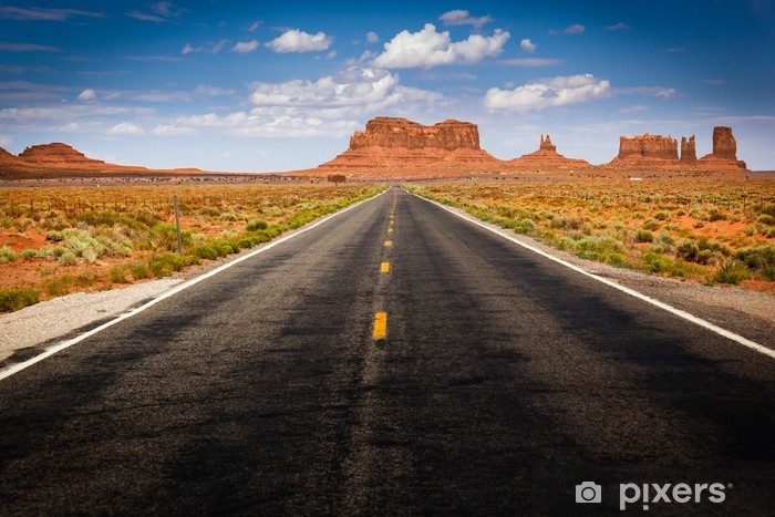 Approaching Monument Valley on Highway 163 Vinyl Wall Mural - Themes