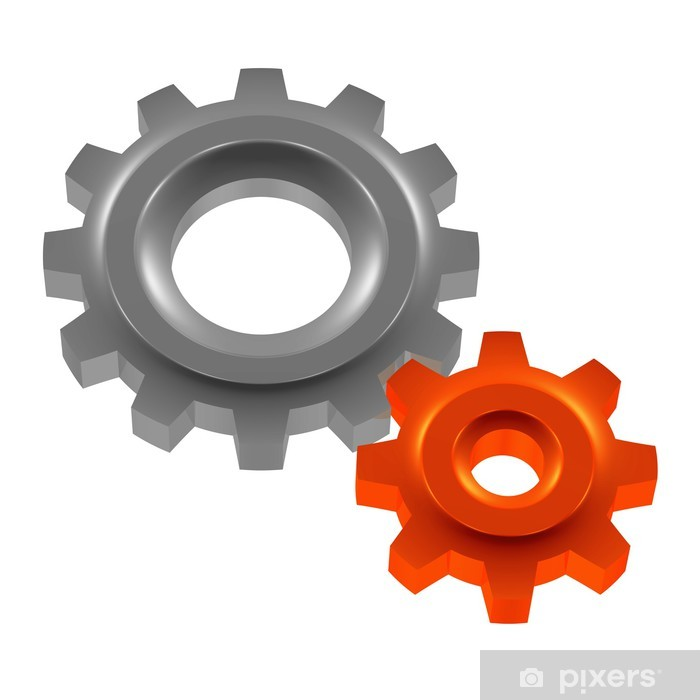 Papier peint vinyle Einstellungen - Système - Getriebe - Signes et symboles