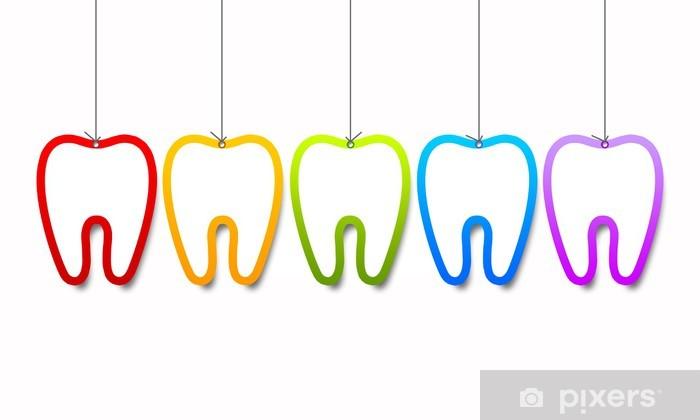 Hampaiden malleja Vinyyli valokuvatapetti - Terveys Ja Lääketiede