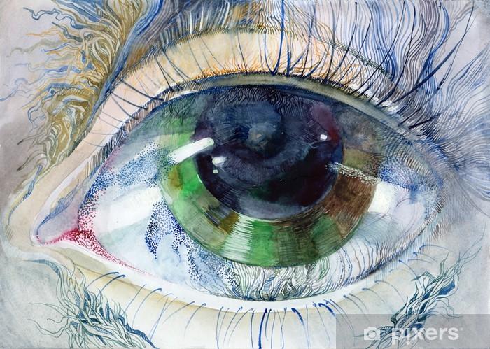 Painting Of Beautiful Human Eye Wall Mural Vinyl