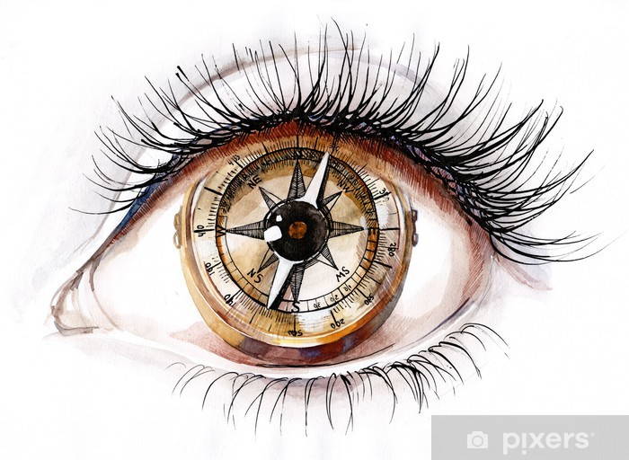 Fototapeta winylowa Kompas ludzka - Tematy