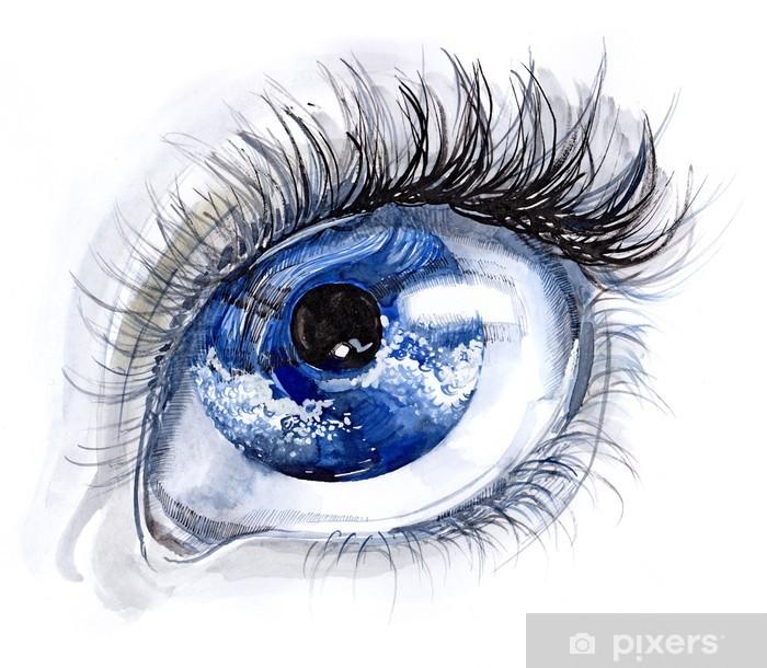 blue eye Framed Poster - Themes