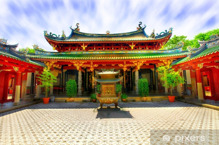 Chinese temple courtyard Vinyl Wall Mural - Religion