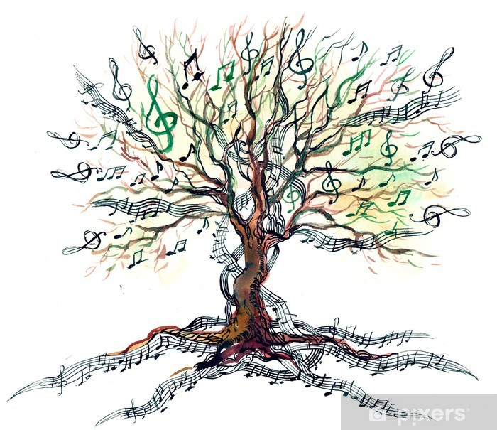 Pixerstick Aufkleber Musikalische Baum - Bäume