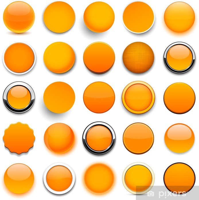 0b3e8555591853 Naklejka Okragle Ikony Pomaranczowy Pixers Zyjemy By Zmieniac