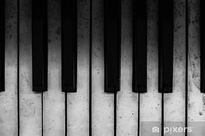 Papier peint vinyle Vieilles touches de piano - Piano à queue