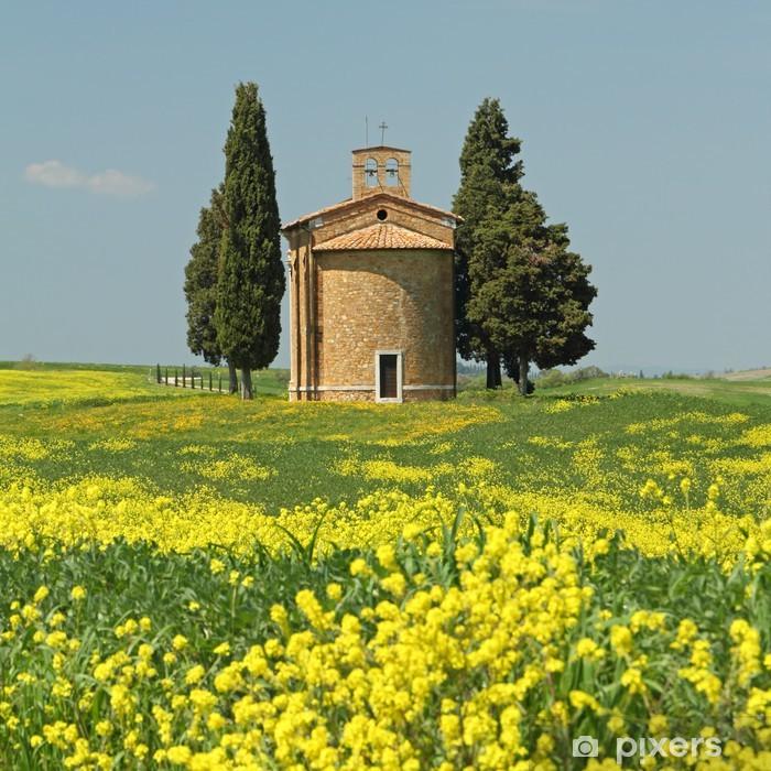 Papier peint vinyle Fantastique paysage toscan, la chapelle de Notre-Dame de V - Europe