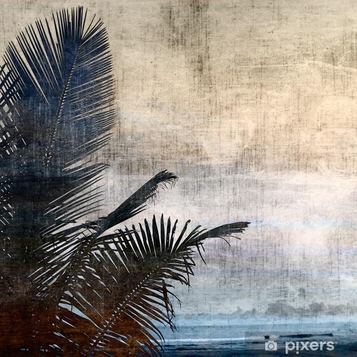 Fototapeta winylowa Grunge palm-2 - Style