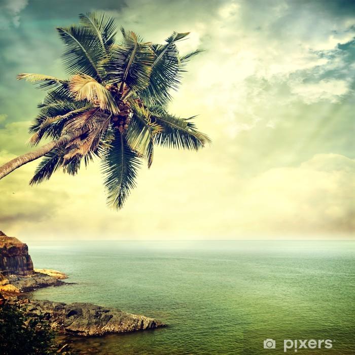 Papier peint vinyle Île tropicale -