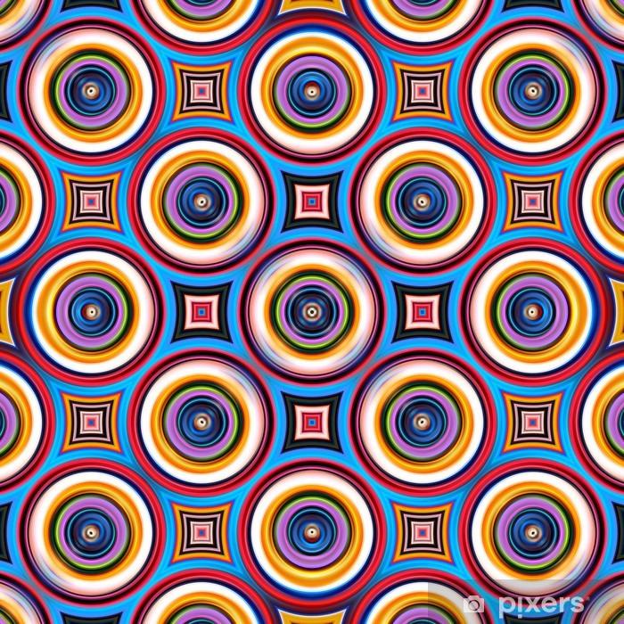 Nálepka Pixerstick Barevné symetrická abstraktní kruh tvary vzor. - Abstraktní