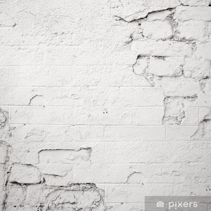 Pixerstick Dekor Skadad vit tegelvägg - Teman