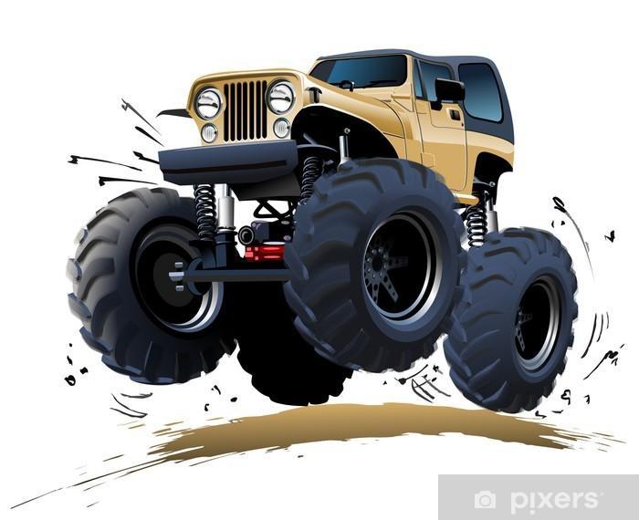 Fotomural Estándar Cartoon Monster Truck - Por carretera