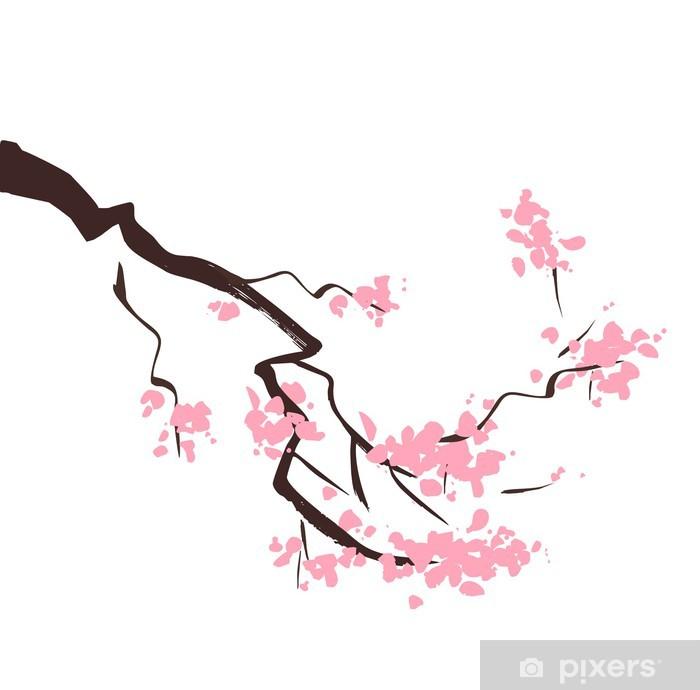 Vinilo Pixerstick Flor de la primavera rama de un árbol de cerezo ...