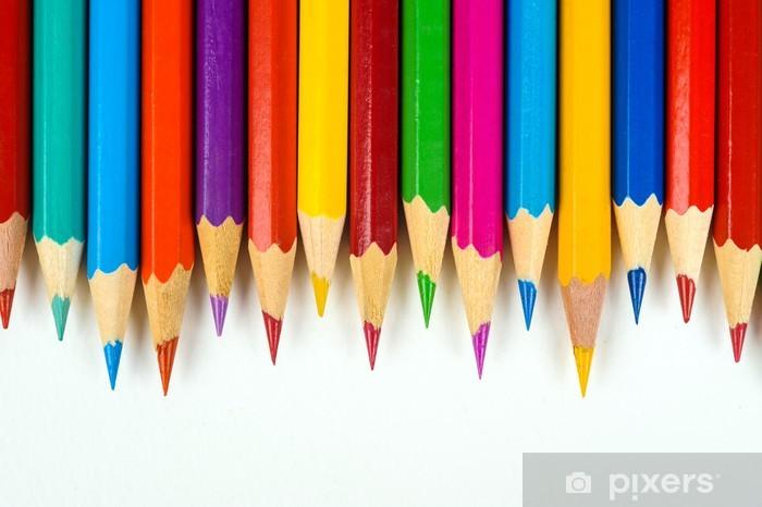 Fototapeta winylowa Wiele kolorowych kredek - Etyka