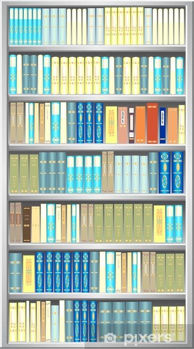 Papier peint vinyle Gris bibliothèque - Bibliothèque