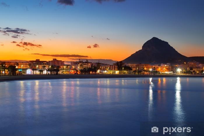 Fototapeta winylowa Alicante Javea sunset beach night view - Wakacje