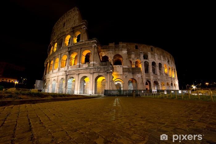 Sticker Pixerstick Colisée de nuit, Rome, Italie - Thèmes
