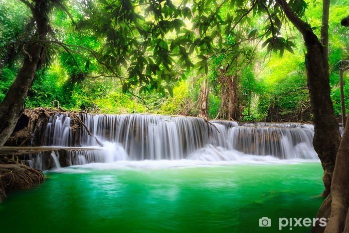 Thailand waterfall in Kanjanaburi Pixerstick Sticker - Themes