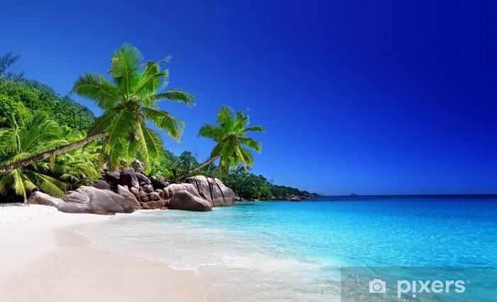 Adesivo Pixerstick Spiaggia a isola di Praslin, Seychelles - Temi