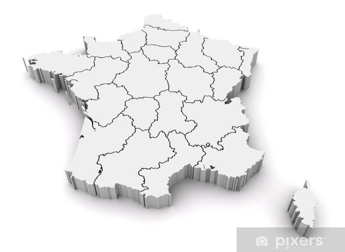 Ranska 3d Kartta Pixerstick Tarra Pixers Elamme Muutoksille