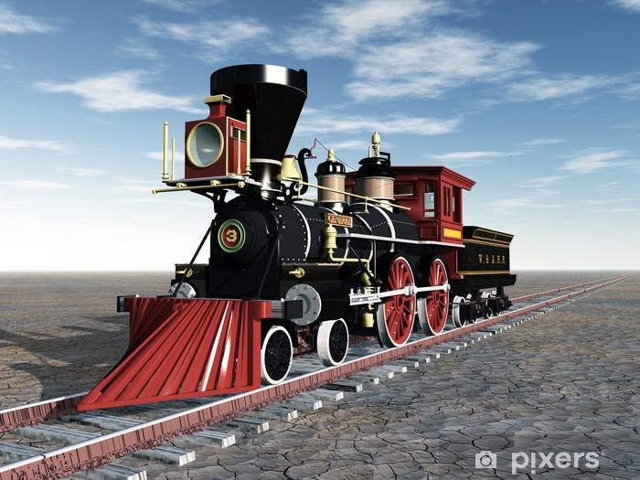 Naklejka Pixerstick Stare lokomotywy - Tematy