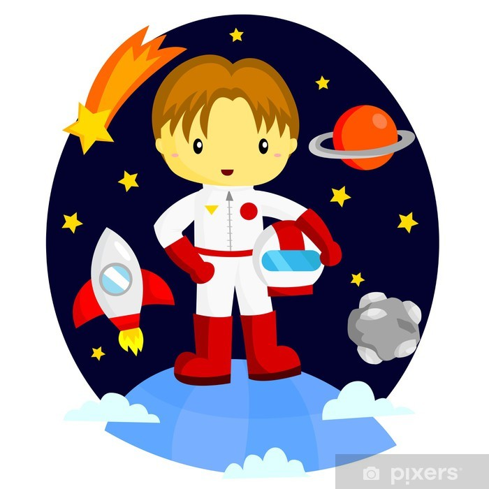 Astronaut Pixerstick Sticker - Outer Space